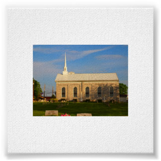 Beautiful church on a beautiful summer day posters