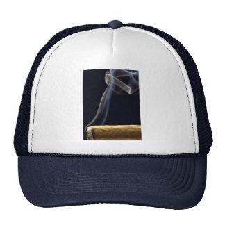 Beautiful Cigar with smoke Trucker Hat