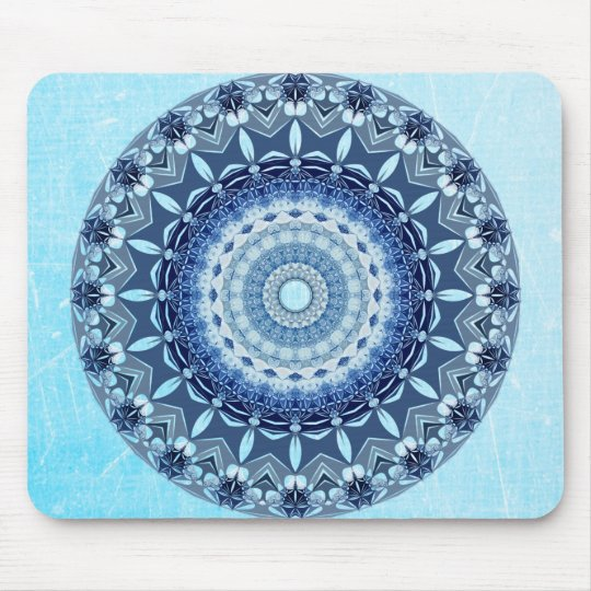 Beautiful Cobalt Blue Mandala Mouse Pad