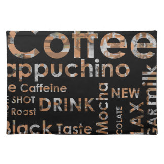 Beautiful Coffee Espresso Cappucino Kitchen Drink Placemat