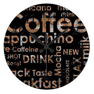 Beautiful Coffee Espresso Cappucino Kitchen Drink Wallclock