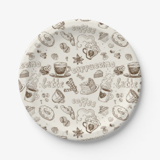 Beautiful Coffee Espresso Design Paper Plate
