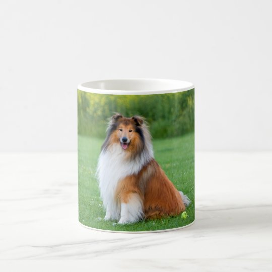 Beautiful Collie dog portrait mug, gift idea Coffee