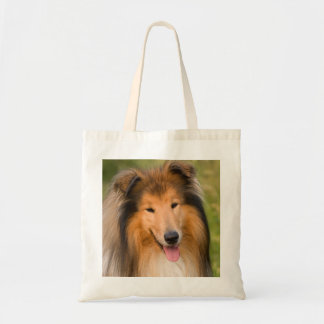 Beautiful Collie dog portrait tote bag, gift idea