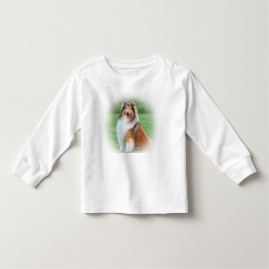 Beautiful collie dog toddlers long sleeved t-shirt