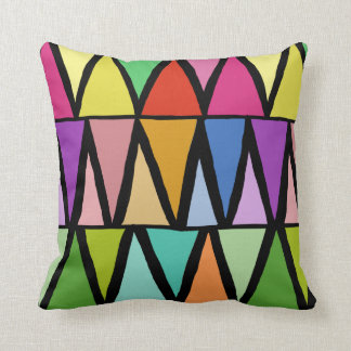 Beautiful Color Triangle Hand Drawn Pattern Pillow