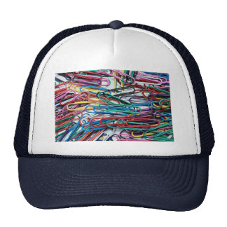 Beautiful Colored paper clips Mesh Hats
