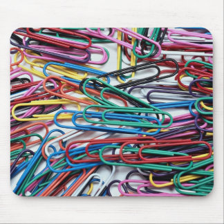Beautiful Colored paper clips Mouse Pads