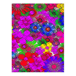 Beautiful colorful amazing floral pattern design a postcard