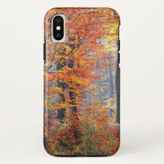 Beautiful colorful autumn forest sunbeams iPhone x case