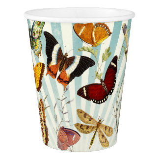Beautiful Colorful Butterflies Nature Paper Cups