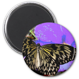 Beautiful  Colorful Butterfly Clothing and Gifts 6 Cm Round Magnet