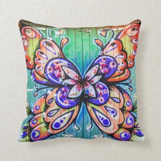 Beautiful Colorful Butterfly Graffiti Pillow