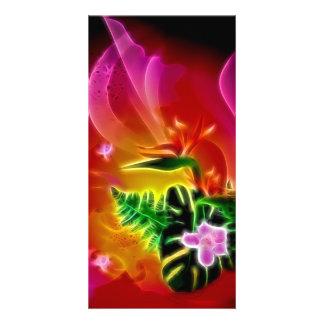 Beautiful colorful calla picture card