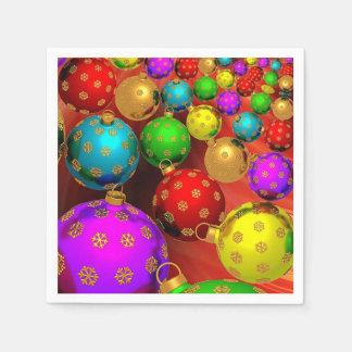 Beautiful, Colorful, Christmas Ornaments Disposable Serviettes