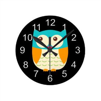 Beautiful Colorful Custom Owl Clock