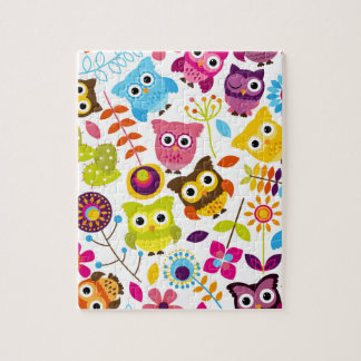 Beautiful Colorful Custom Owl Jigsaw Puzzle