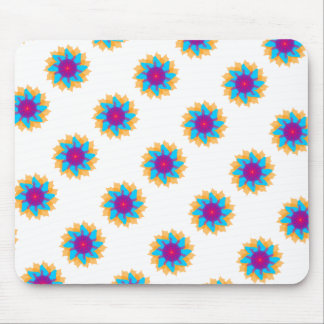 Beautiful Colorful Flower Mouse Pad