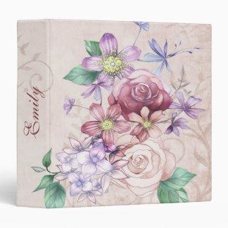 Beautiful Colorful Flowers Custom Binder