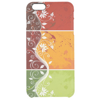 beautiful colorful flowers swirl art clear iPhone 6 plus case