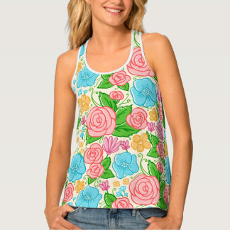 Beautiful Colorful Flowers Tank Top