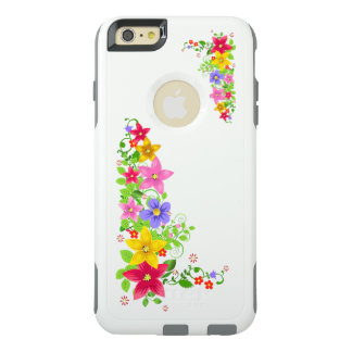 beautiful colorful flowers vector art OtterBox iPhone 6/6s plus case
