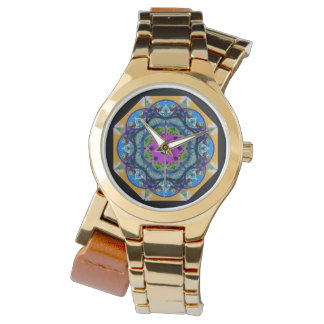 Beautiful Colorful Geometric Faced Watch