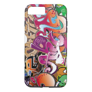 beautiful  colorful graffiti art iPhone 7 plus case