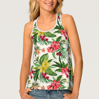 Beautiful Colorful Hawaiian Flowers Tank Top