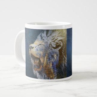 Beautiful colorful lion jumbo mug