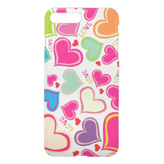 beautiful colorful love hearts vector art iPhone 7 plus case
