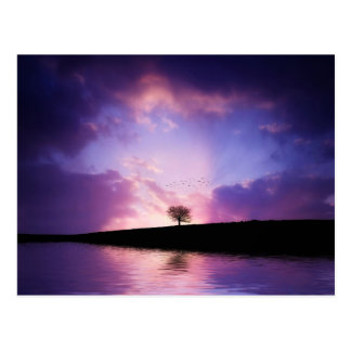 Beautiful colorful nature scenery postcard