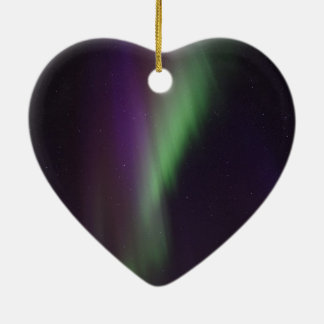 Beautiful colorful northern lights ceramic heart decoration