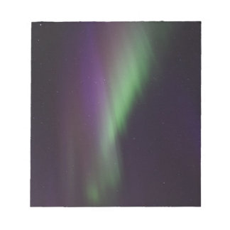 Beautiful colorful northern lights notepad