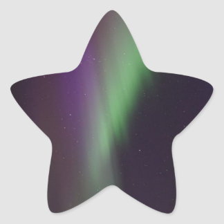 Beautiful colorful northern lights star sticker