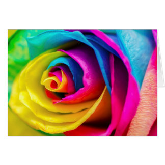 Beautiful Colorful Rainbow Rose Love Poem Card
