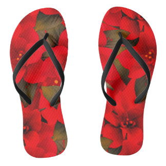 Beautiful colorful Red flower flipflop