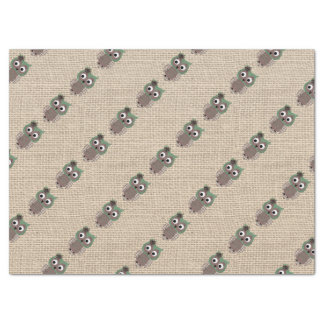 Beautiful Colorful Rustic Custom Owl Tissue Paper