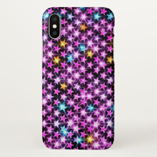 Beautiful colorful sparkling stars iPhone x case