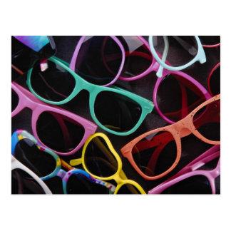 Beautiful Colorful sunglasses Postcards