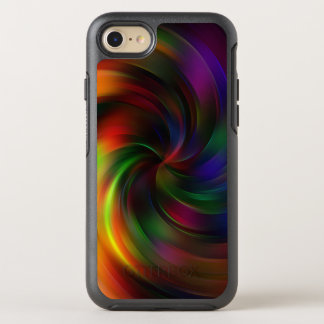 Beautiful colorful Swirl Pattern OtterBox Symmetry iPhone 8/7 Case