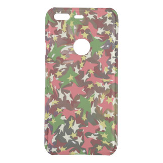beautiful colorful swirl stars red green brown uncommon google pixel case