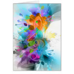 Beautiful colourful and cool splatter music note cards