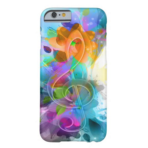 Beautiful colourful and cool splatter music note iPhone 6 case