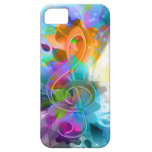 Beautiful colourful and cool splatter music note iPhone 5 cover