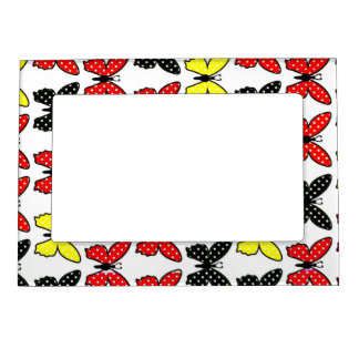 Beautiful colourful butterflies Magnetic Frame