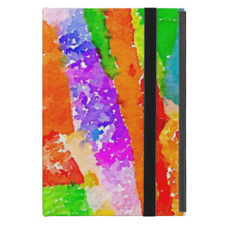 Beautiful Colourful Painted Paper Collage iPad Mini Case