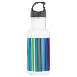 beautiful colourful stripes 532 ml water bottle