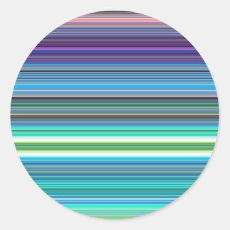 beautiful colourful stripes classic round sticker
