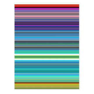 beautiful colourful stripes post cards